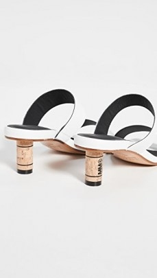 MM6 Maison Margiela Double Strap Mules / logo cork heels - flipped