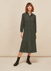 WHISTLES LONGLINE MARK ENORA DRESS / tiered day dresses / sustainable fashion