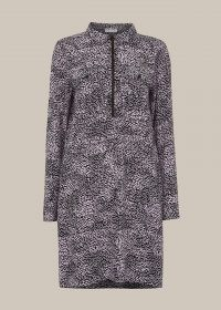 WHISTLES KAY RIPPLE PRINT SHIFT DRESS / sustainable clothing / printed day dresses