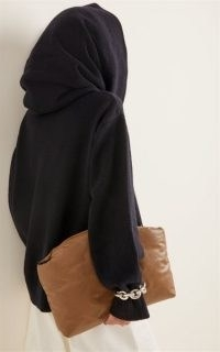 The Frankie Shop Noemie Oversized Cowl Neck Wool-Blend Sweater