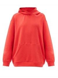 RAEY Oversized cotton-jersey hooded sweatshirt – red sweatshirts with hoods