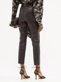 PETAR PETROV Palmer belted slim-leg leather trousers