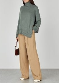 PETAR PETROV Naolin sage roll-neck cashmere jumper