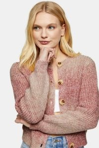 Topshop Pink Tie Dye Knitted Cardigan