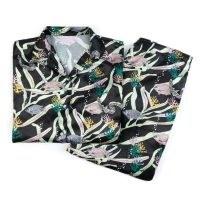 Oceanus Pippa Pyjamas Set / fish and coral prints / ocean inspired printed pyjamas