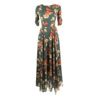 Jennafer Grace Prairie Reversible Fitted Maxi Dress