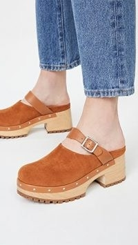 Rachel Comey Grader Clogs in Saddle