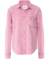 RAILS Ingrid Raw Acid Wash Shirt ~ pink denim shirts