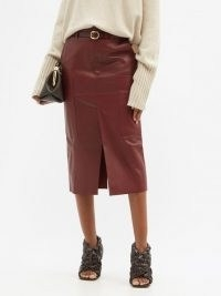 PETAR PETROV Randy B red-leather midi skirt