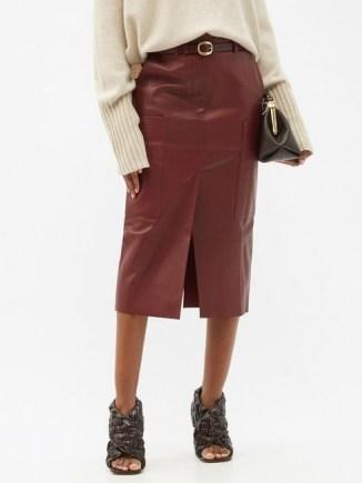 PETAR PETROV Randy B red-leather midi skirt - flipped