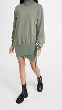 Retrofete Desreen Sweatshirt Dress / casual green dresses / comfy fashion