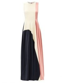 ROKSANDA Rowan sleeveless tri-colour silk gown / colour block evening gowns