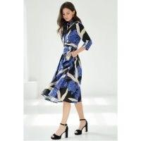 Marianna Déri Shirtdress With Tie Belt & Hortensia Print / feminine floral print dresses