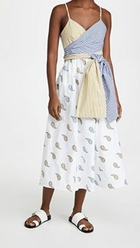 Silvia Tcherassi Calusa Dress / paisley prints / mixed print fashion