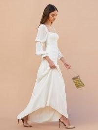 REFORMATION Stars Dress ~ long ivory wedding dresses ~ beautiful bridal gowns