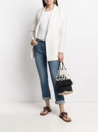 Stella McCartney logo-tape slim-fit jeans | light blue denim