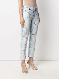 Stella McCartney marbled-pattern straight-leg jeans | marble print denim