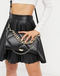 Steve Madden Bcobble foldover crossbody in black | quilted handbags
