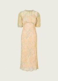 L.K. BENNETT SUSIE AQUAMARINE / feminine short sleeve floral dresses