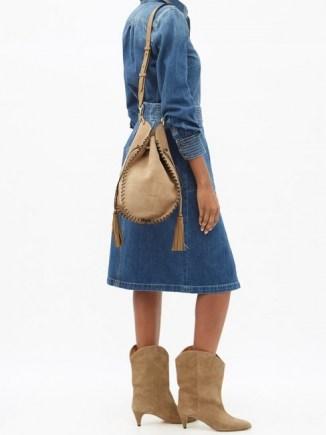SABEL MARANT Taj fringed suede cross-body bag ~ boho bags