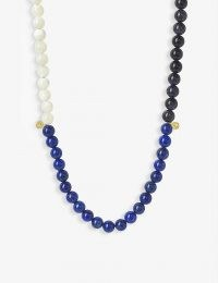 THE ALKEMISTRY Cinta 18ct yellow-gold and tri-block beaded necklace / colour block jewellery