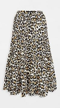 The Marc Jacobs The Prairie Skirt / tiered leopard print skirts
