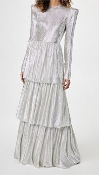 The Vampires Wife The Unrequited Full Length Dress ~ silver occasion dresses