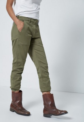 CURRENT/ELLIOTT THE WESLAN JOGGER ARMY GREEN - flipped