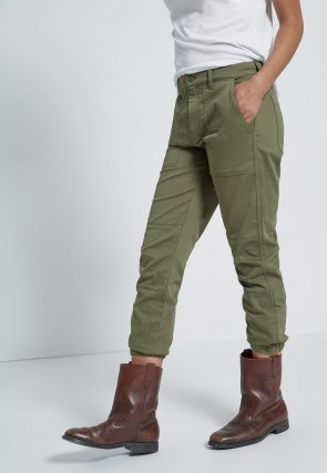 CURRENT/ELLIOTT THE WESLAN JOGGER ARMY GREEN
