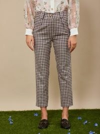 sister jane THE GRAND CAROUSEL Attraction Check Peg Trousers / checked front pleat pants