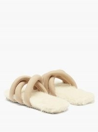 YUME YUME Tyre faux-suede slides – fluffy luxe sliders