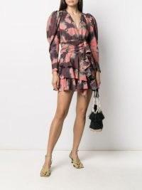 Ulla Johnson Semira silk mini dress / ruffled tie dye dresses