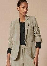 meandem Ultimate Drape Superfine Cord Blazer Dusted Sage ~ green blazers ~ corduroy jackets