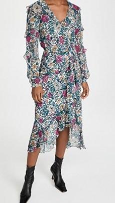 Veronica Beard Anoki Dress / floral ruffle trim dresses - flipped