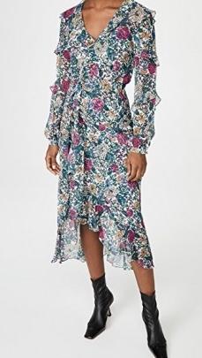 Veronica Beard Anoki Dress / floral ruffle trim dresses