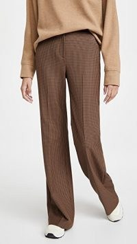 Veronica Beard Lebone Pants in Camel ~ brown checked trousers