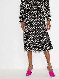 Victoria Beckham fruit print pleated skirt / fruits in fashion