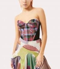 Vivienne Westwood FARGO CORSET BRICK TARTAN / plaid bustier tops