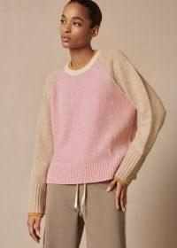 me and em Wool Cashmere Mouliné Colourblock Jumper ~ colour block jumpers ~ meandem knitwear