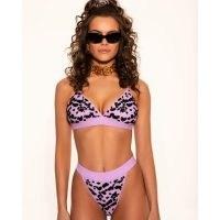 Oceanus Zizi bikini / lilac animal print bikinis / swimwear