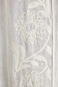 ANTHROPOLOGIE Embroidered Manette Curtain ~ sheer white floral curtains ~ soft furnishings for the home