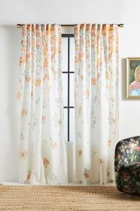 ANTHROPOLOGIE Frances Floral-Print Curtain ~ lightweight floral curtains ~ beautiful home soft furnishings