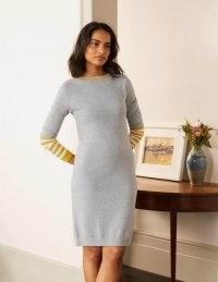 BODEN Alba Dress / grey boat neck sweater dresses
