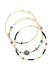 Anni Lu Rock and Sea Clemence three-set bracelet ~ beaded bracelets