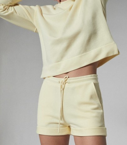 REISS ANNIE LOUNGEWEAR JERSEY SHORTS YELLOW ~ lounge clothing - flipped