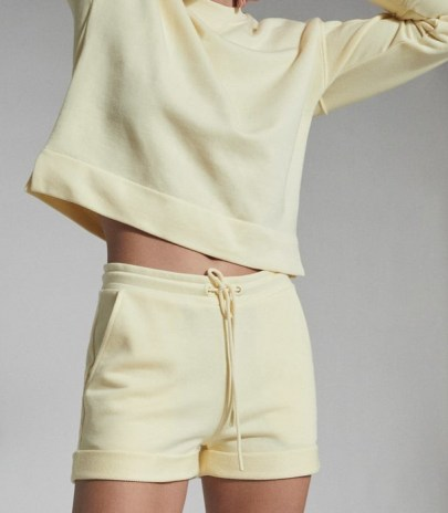 REISS ANNIE LOUNGEWEAR JERSEY SHORTS YELLOW ~ lounge clothing