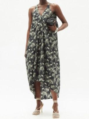 PETAR PETROV Aspen Fog floral-print silk maxi dress