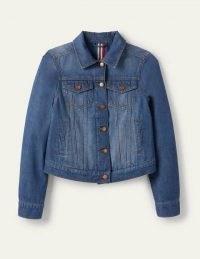 Boden Authentic Denim Jacket Mid Vintage Authentic Wash   classic jackets