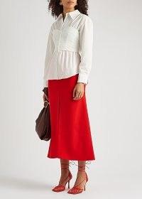A.W.A.K.E MODE White poplin corset shirt | fitted shirts