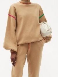 ROKSANDA Azalea high-neck embroidered sweater / relaxed shape with balloon sleeves